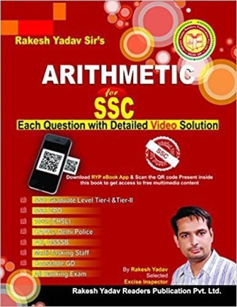 Rakesh Yadav Arithmatic For Ssc (BEST BOOK FOR SSC-CGL, SSC-MTS,SSC-CHSL,SSC,SSC MTS,RAILWAY,RRB-NTPC,RRB GROUP-D,DSSSB)(English,paperback,Rakesh Yadav,Airthmatic)