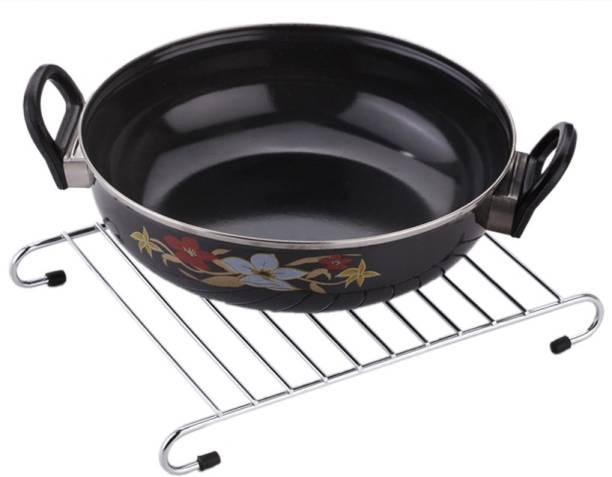 IMPULSE Hot Plate Rack/Hot Vessel Stand, Dining Table Hot Plate Stand/Hot Vessel Stand (Only Stand) Chrome Trivet