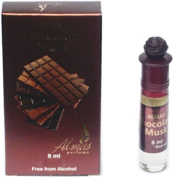 Almas Chocolate Musk Pocket Perfume. Eau de Parfum - 8 ml (For Men & Women) Floral Attar