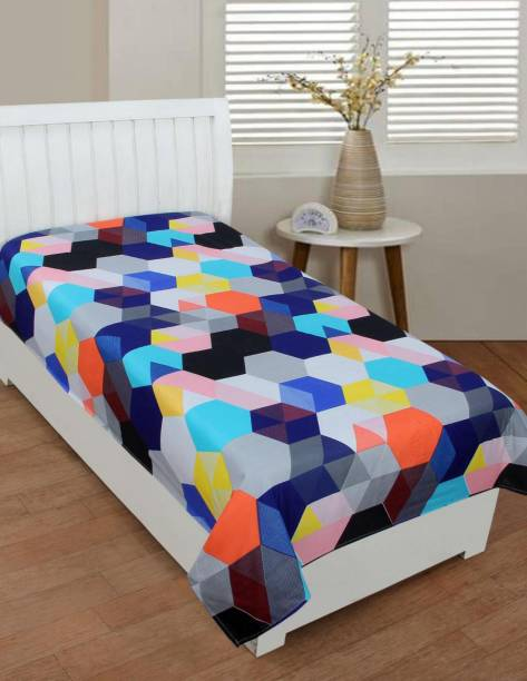 Flipkart SmartBuy 152 TC Microfiber Single Abstract Bedsheet