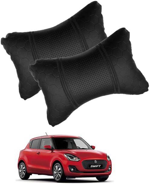 RONISH Black Leatherite Car Pillow Cushion for Maruti Suzuki