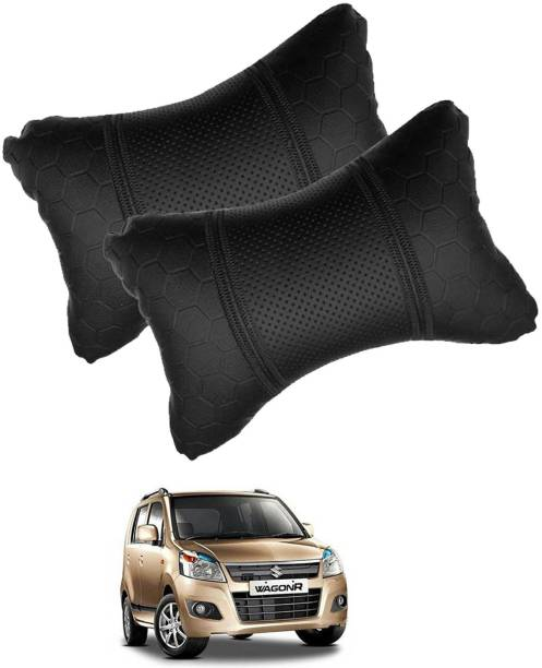 VOCADO Black Leatherite Car Pillow Cushion for Maruti Suzuki