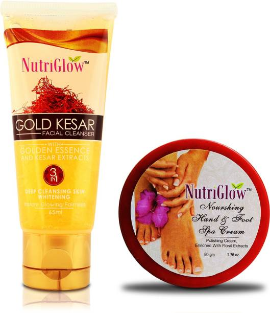 NutriGlow Gold Kesar Face Wash with hand and foot spa cream / All day Care