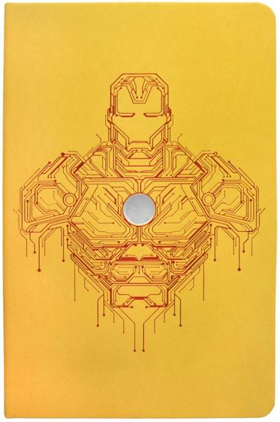 doodle Iron Man Invincible Avengers A5 Notebook Ruled 192 Pages