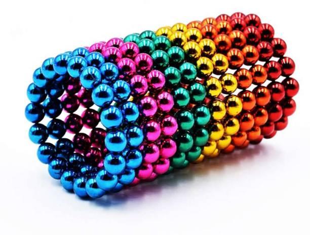 ERetailMart Magnetic Balls MagnetsToys Sculpture Building Magnetic Blocks Magnet Cube Toy Stress Relief Six Mix Color