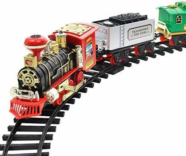 YATRI Classic Electric Dynamic Steam RC Track Train Set Simulation Model Kids Toy Rechargeable Children Remote Control Toy Set