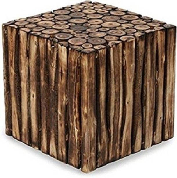 Amaze Shoppee Wooden Square Shape Stool/Chair Made from Natural Wood Blocks (16 Inch) Living & Bedroom Stool