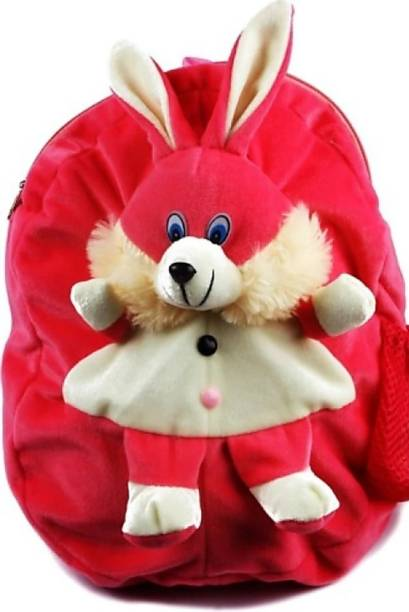 3G Collections Pink Rabbit Teddy Bear Soft Toy Kids Plush Bag/ Backpack Bag Waterproof School Bag