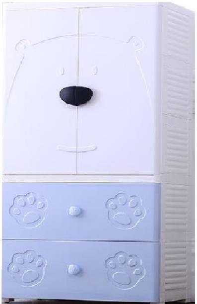The Tickle Toe T3-HX0030631 Plastic 2 Door Wardrobe