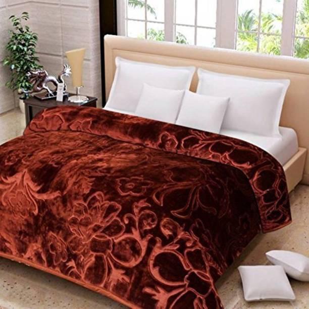 kirshinaENTERPRISES Floral Double Mink Blanket