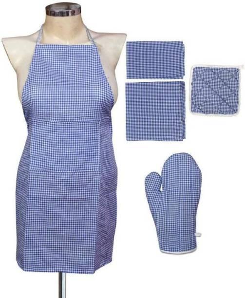 JBG HOME STORE Blue Linen Kitchen Linen Set