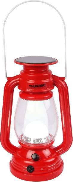 THUNDER SOLOR LALTEN LIGHT LED Red Plastic Table Lantern
