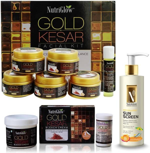 NutriGlow Gold Kesar Makeup Mania Summer Special Combo (Set of 3)