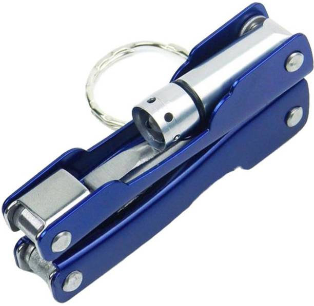 Flipkart SmartBuy Multi Utility Blue 9 in 1 Key Chain