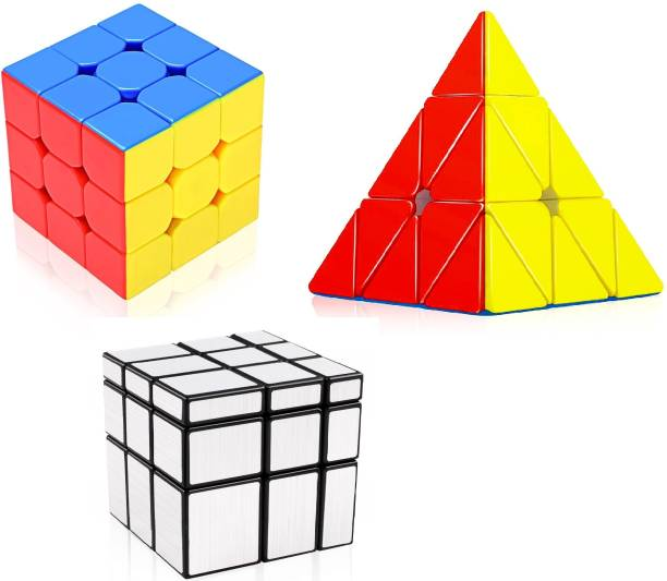 D ETERNAL Cube Combo Set 3x3, Pyraminx Triangle and Mirror Cube