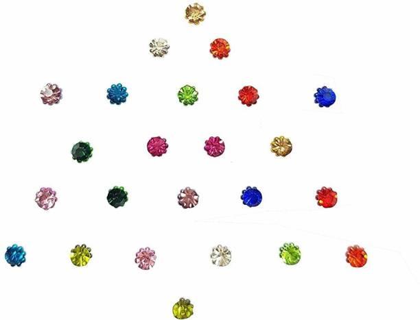 Comet Busters Dot Designer Bridal Bindi for Women, Ladies, Brides, Girls, wedding, parties Multicolor Bindis