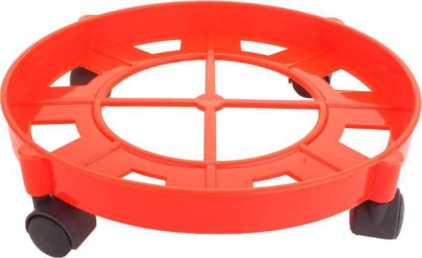 SHP HIGH QUALITY UNBREAKLBLE PLASTIC GAS TROLLEY /LPG GAS TROLLEY/PLASTIC GAS RACK/PLASTIC TROLLEY STE OF 1 (RED) Gas Cylinder Trolley