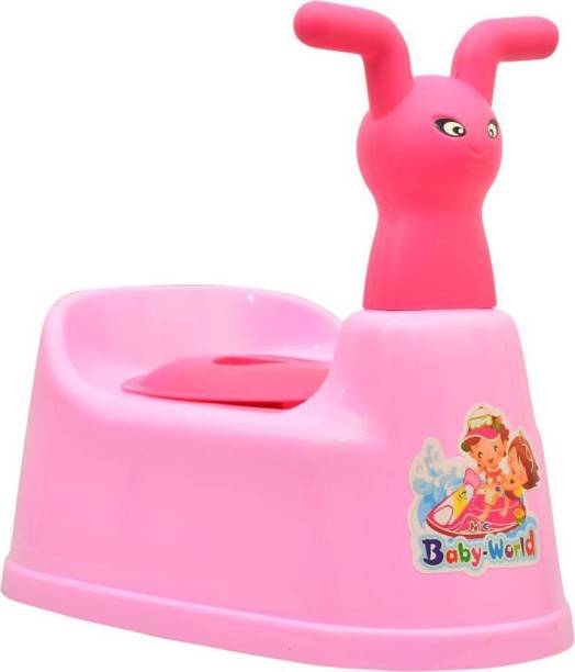 Nabhya Toilet Trainer Baby Potty Seat Cartoon Face with Removable Tray & Closing Lid Potty Seat