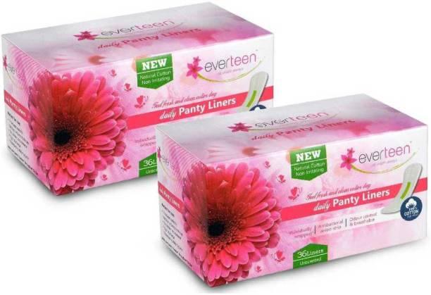 everteen Cotton Top Daily Pantyliner ( 72 Piece) Pantyliner