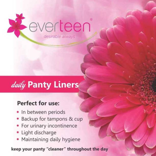 everteen Panty Liners for Light Discharge Absorption in Women - 1 Pack (30 pieces) Pantyliner