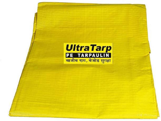 UltraTarp Tent ( 24 ft x 30 ft) - 150 GSM YELLOW Tent - For Suitable for Medium Duty, Waterproof Tarpaulin, 100 % Pure Virgin UV Treated, Reinforced with aluminum eyelets on all sides, Premium quality tarpaulin commonly known as tirpal, tent, raincover, camping tent, tarpoline, plastic cover, waterproof sheet etc.