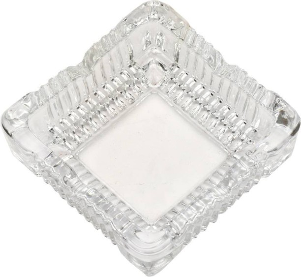Glass Ashtray Smoke Collectible Tribal Decoration- 12 Cm Round Tabletop King International Crystal Quality Glass Ash Tray
