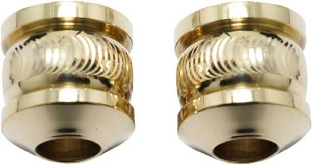 Golden Fox Brass Handle Bar Weight Handle Balancer Diamond Design For Bike Bike Handlebar Weights