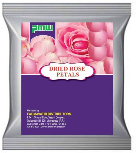 PMW Grade A Quality - Dried Rose Petals - Gulab Patti - Natural Sun Dried - Chemical Free - 250 Grams