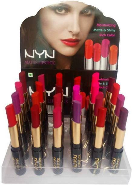 NYN Matte lipstick set of 24 (multicolor)