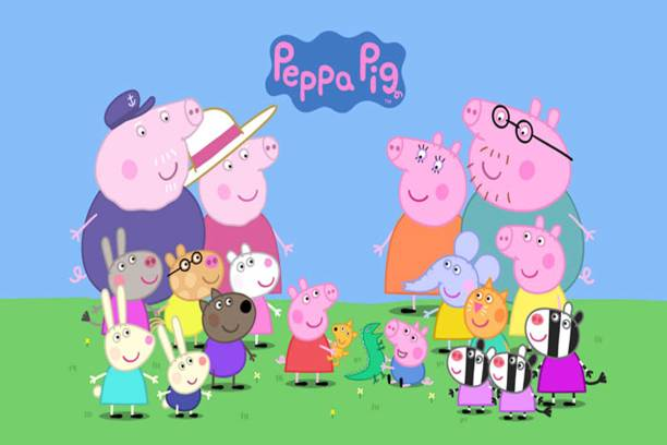 Peppa Pig Cartoon Poster - Decorative wall Poster -High Resolution - 300 GSM - Glossy/Matte/Art Paper Print Paper Print