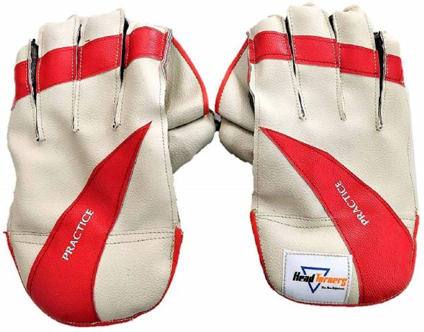 HeadTurners Cricket Wicket Keeping Gloves - Practice(Colour May Vary)(Practice,Youth) Wicket Keeping Gloves