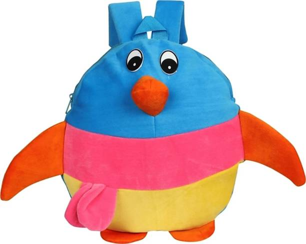 3G Collections Multicolor Penguin Soft Toy Bag, Plush Bag, Teddy Bag School Bag