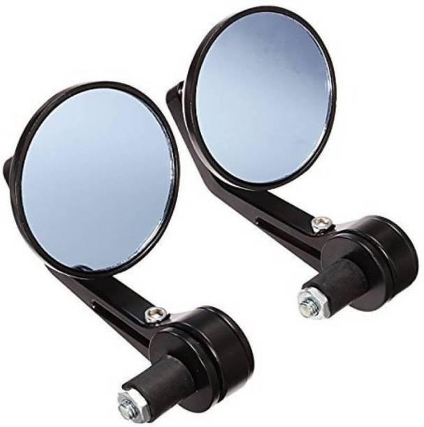 BRPEARl Manual Rear View Mirror, Dual Mirror, Driver Side For Bajaj Pulsar 150 DTS-i
