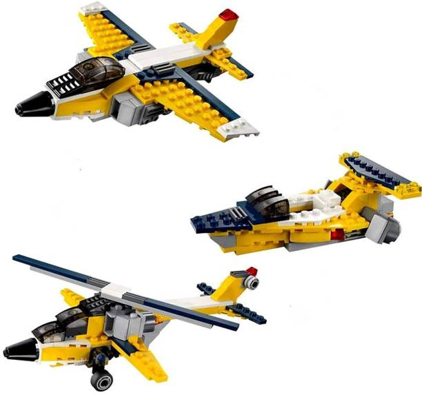 RVM Toys 130 Pcs Architect Series 3 in 1 Aeroplane Helicopter Lego Compatible Building Blocks