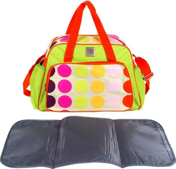 MeeMee Multipurpose Diaper Bag With Changing Mat (Green) Nursery Bag