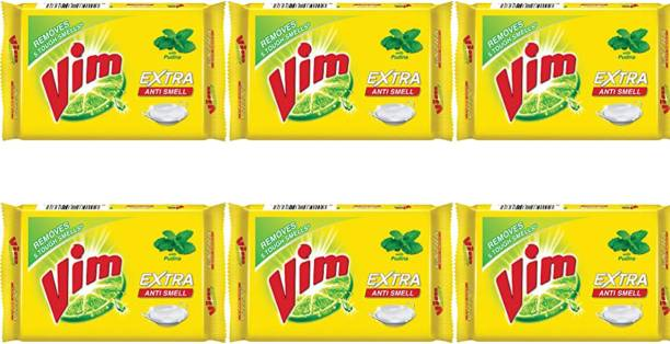 Vim ANTI SMELL BAR with pudina 250 GM (pack of 6) Dishwash Bar