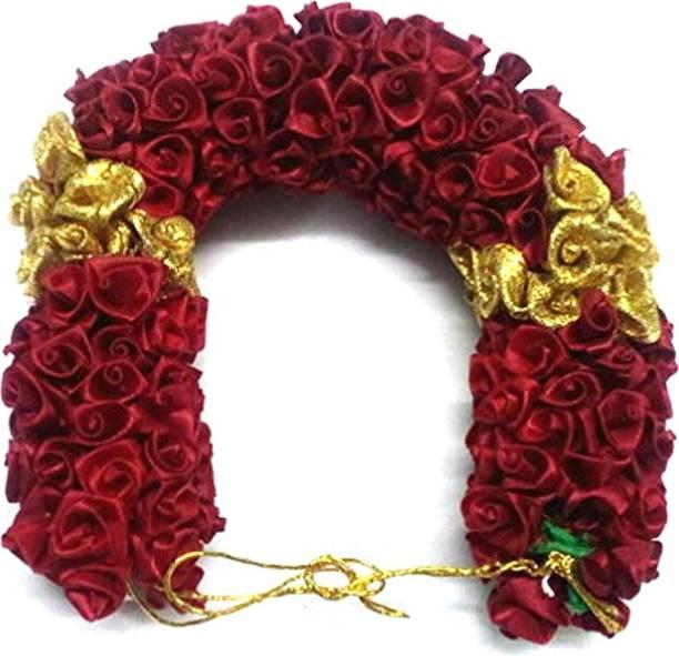 S Mark Bridal Flower Bun Hair Gajra Accessories For South Indian Wedding Bun