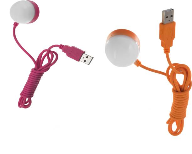 Flipkart SmartBuy Portable and Flexible for Notebook, Laptop, Power Bank (Multi-Color Pack of 2) Bulb with Magnate and 1.5 Meter long wire Led Light