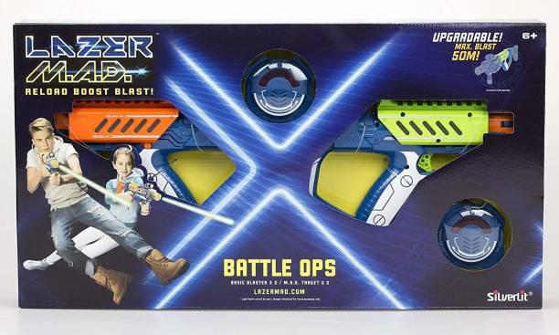 Silverlit Lazer M.A.D Gun-Battle OPS Equiped with Basic Blaster x 2, M.A.D Target x 2, Upgradable. Guns & Darts