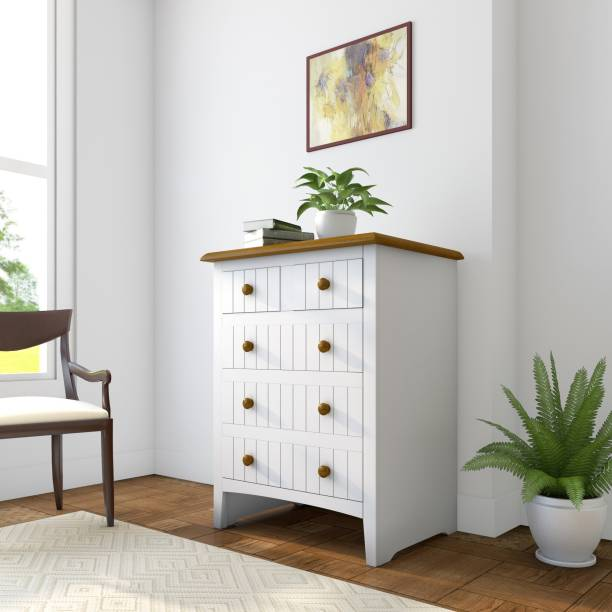 Flipkart Perfect Homes Legato Solid Wood Free Standing Chest of Drawers