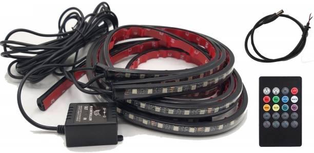 KOZDIKO LED music Sound Control RGB Flash Strip Tube Light Kit Under Car Glow Underbody System Car Fancy Lights