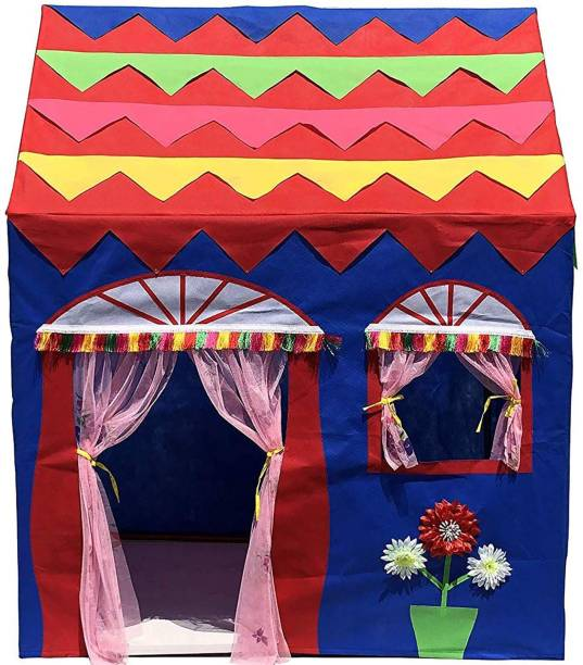 Homecute Hut Type Kids Toys Play Tent House for Boys and Girls Blue-Red