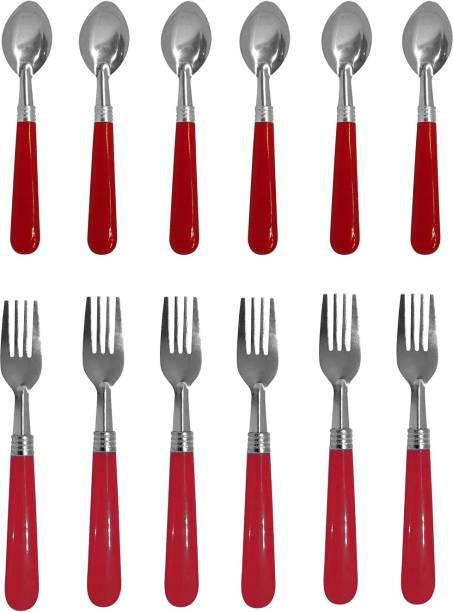 FULLY Steel, Plastic Table Spoon Set