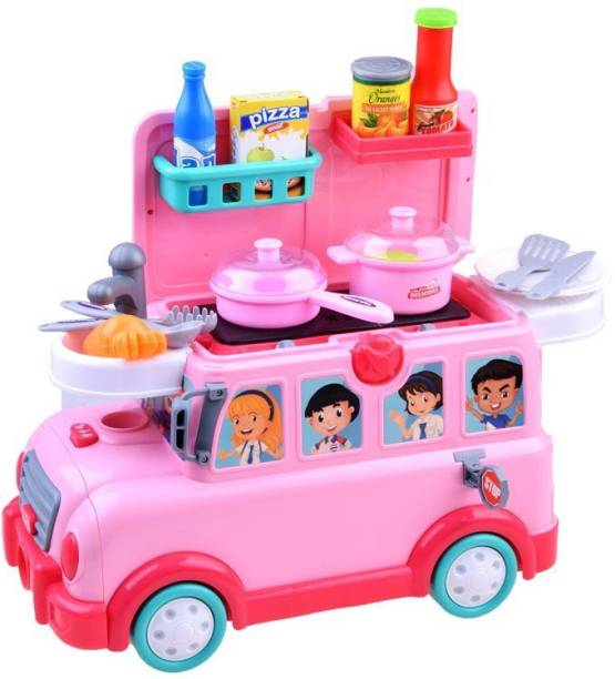 Smartcraft Go Go Funny Bus , 3 in1 Toy car rides kitchen on wheels
