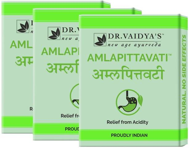 Dr. Vaidya's Amlapittavati - Ayurvedic and Natural Relief from Acidity - Pack of 3