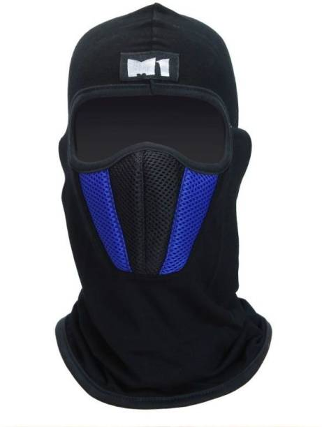 Auto Hub Blue Bike Face Mask for Men & Women