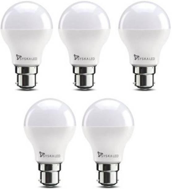 Syska 9 W Round B22 LED Bulb