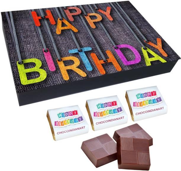 CHOCOINDIANART New idea Happy Birthday, 12pcs Delicious Chocolate Gift Box, Truffles