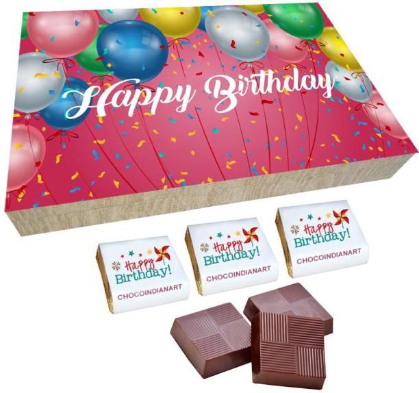 CHOCOINDIANART Surprise Happy Birthday, 12pcs Chocolate Gift Box, Truffles