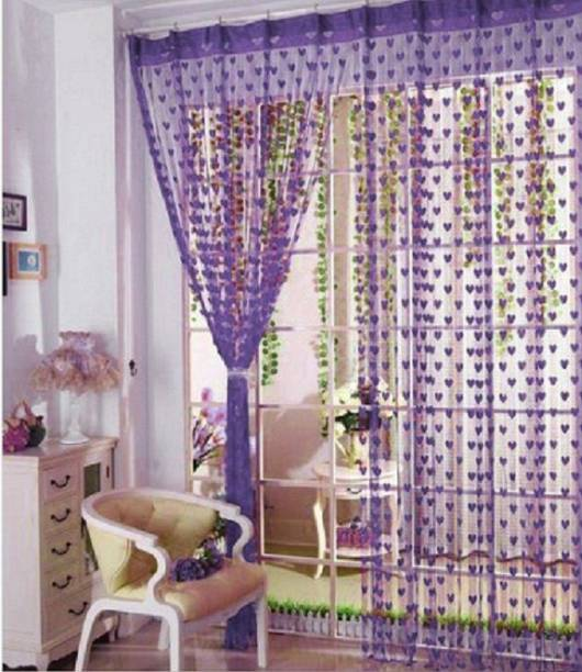 Roomesssentials 183 cm (6 ft) Tissue Window Curtain Single Curtain